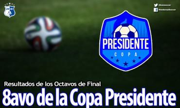 Resultados de los 8avos de final de la Copa Presidente