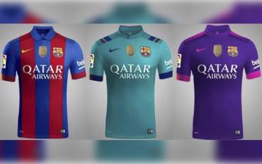 Las tres camisetas del FC Barcelona para la próxima temporada