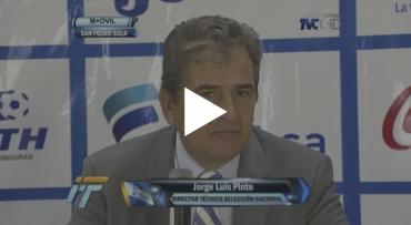"""VIDEO: Primera conferencia de prensa de Pinto al mando de la """"H"""""""