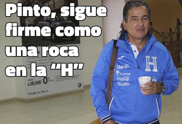 """Jorge Luis Pinto sigue firme como una roca en la """"H"""""""