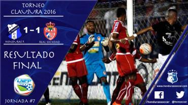 Honduras Progreso no logra despertar y empata en casa ante la Real Sociedad