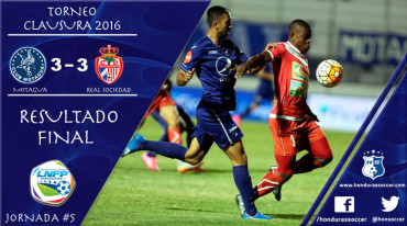 Motagua logró rescatar un punto frente a un gran Real Sociedad