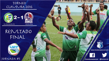 En un duelo bravísimo el Juticalpa FC venció al Olimpia