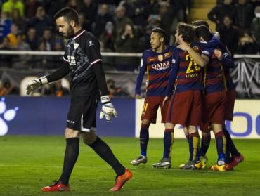 Con triplete de Messi, Barcelona humilló al Rayo Vallecano