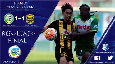 Juticalpa FC no pudo lograr un triunfo en casa al empatar ante Real España