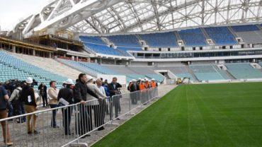 La FIFA visitó seis de las sedes de la Copa Mundial de la FIFA Rusia 2018