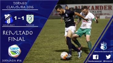 Honduras Progreso y Platense ofrecieron un entretenido partido