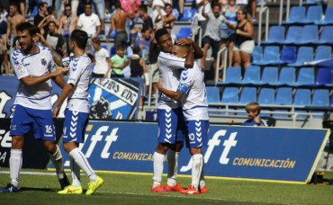 Anthony Lozano estuvo en el triunfo del Tenerife