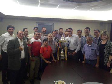 El Olimpia festejó con un brindis su título 30 en la Liga Nacional