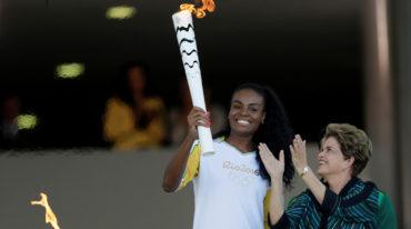 La antorcha olímpica está en Brasil para los Juegos de Río 2016