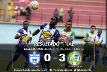 Juticalpa FC despide con una derrota al Victoria de Primera División