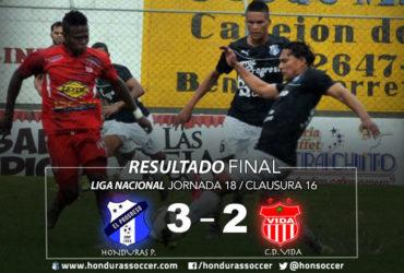 Honduras Progresó cierra con dignidad el torneo venciendo al Vida