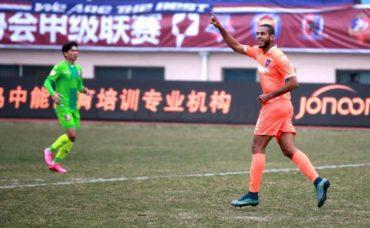 Eddie Hernández volvió a anotar en el fútbol de China
