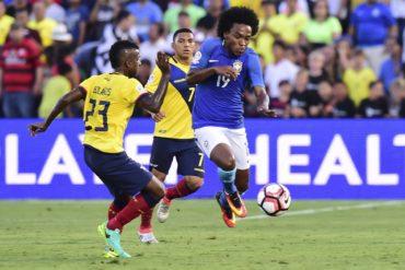 Brasil y Ecuador igualan sin goles en Pasadena