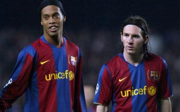 La tierna felicitación de Ronaldinho a Messi