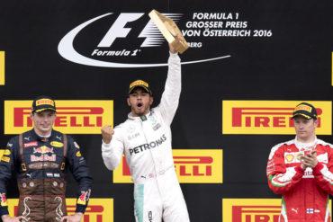 Hamilton se llevó el GP de Austria