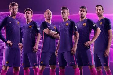 Barça vestirán de morado en la Temporada 2016-17