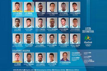 Argentina presentó lista de 18 futbolistas para JJOO