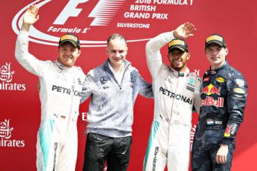 Hamilton se llevó el GP de Gran Bretaña