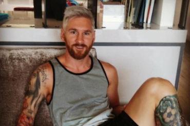 Messi cambio de Look y ahora es rubio