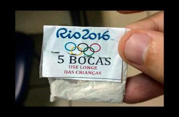 Decomisan drogas con la bandera Olímpica