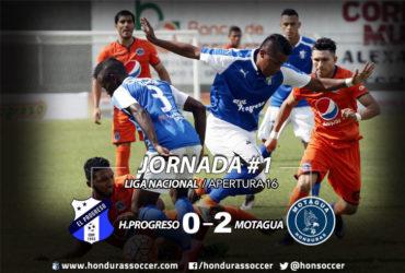 Motagua logró comenzar con una victoria el Torneo Apertura, venciendo a H.Progreso