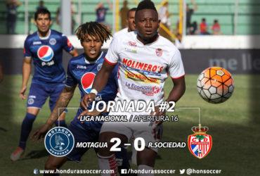 Motagua vence con tranquilidad a la Real Sociedad y es líder solitario del Apertura