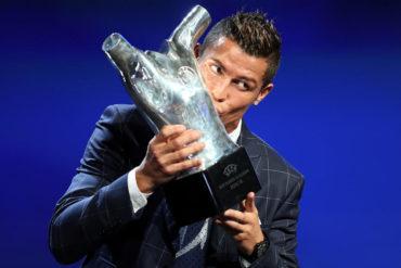 Cristiano Ronaldo, galardonado como el mejor jugador de Europa