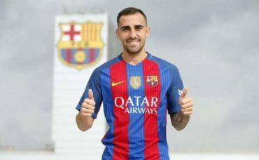 El delantero español Paco Alcácer, nuevo jugador del Barcelona