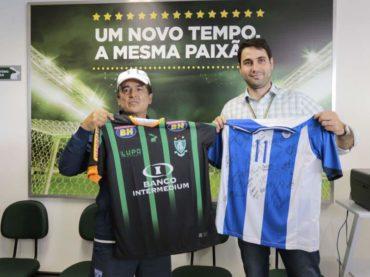"""La """"H"""" Sub-23 obsequió una camisa autografiada al América Futebol Clube"""
