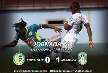 Marathón logró su primer triunfo del torneo al vencer al Juticalpa FC