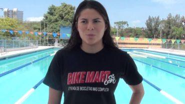Nadadora hondureña Sara Pastrana, quedó en sexto lugar en los 200 metros libre