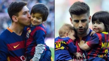 Los hijos de Messi, Suárez y Piqué, ya entrenan en la escuela del Barcelona