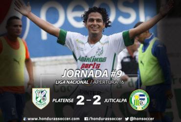 El Platense sigue invicto pero pierde el liderato tras empatar ante Juticalpa