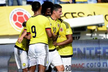 James Rodríguez, figura en el triunfo de Colombia sobre Venezuela