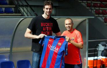 Pau Gasol convivió con plantilla del Barcelona