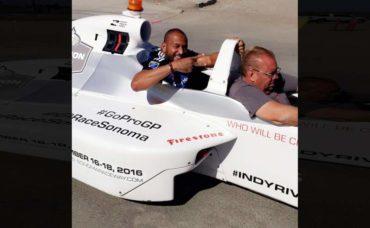 """""""Muma"""" Bernárdez sintió la adrenalina como copiloto de la IndyCar"""