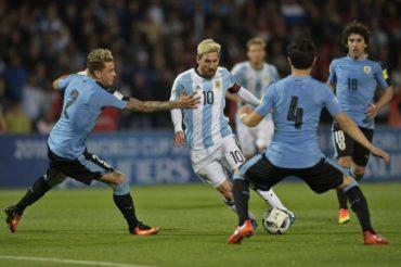 Argentina vence a Uruguay con gol de Messi y es nuevo líder