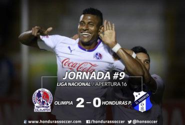Olimpia termina como líder la primera vuelva tras vencer al Honduras P.