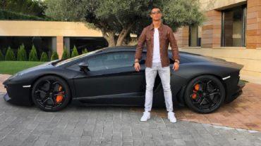 Cristiano Ronaldo presume su nuevo Lamborghini