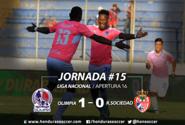 Olimpia derrotó a la Real Sociedad y se mantiene como líder solitario del torneo Apertura