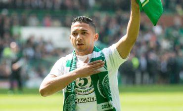 Emilio Izaguirre ha tenido una caída desastrosa con el Celtic de Escocia