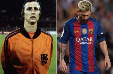 Messi quedó fuera del equipo ideal histórico de Cruyff