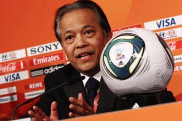 FIFA suspendió cinco años a expresidente de Federación Tailandeasa
