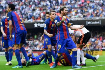 Messi rescató triunfo del Barça