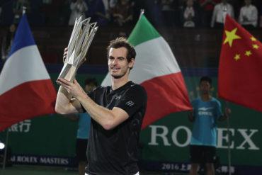Murray consiguió su tercer título en Shanghai