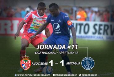 El Motagua sigue sin poder ganar en la ciudad de Tocoa a la Real Sociedad