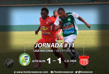 Juticalpa FC se conformo con el empate ante el Vida