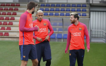 Leo Messi completa su primer entrenamiento con el FC Barcelona