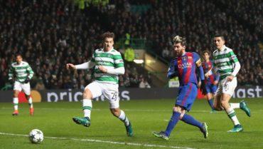 Con dos goles, Messi le dio el triunfo al Barcelona ante el Celtic